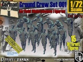 1/72 German Ground Crew Set001 in Smooth Fine Detail Plastic
