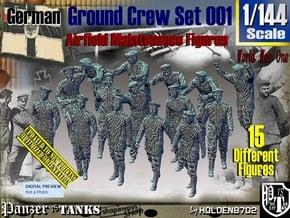 1/144 German Ground Crew Set001 in Smooth Fine Detail Plastic