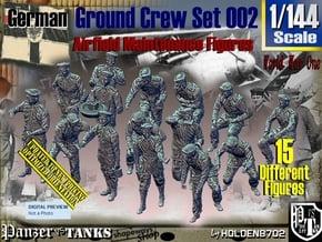 1/144 German Ground Crew Set002 in Smooth Fine Detail Plastic