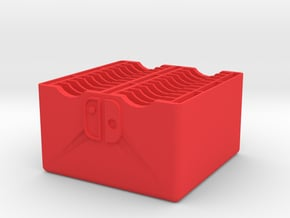 22-Game Nintendo Switch Cartridge Case Without Lid in Red Processed Versatile Plastic