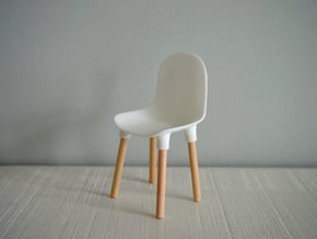 1:12 Chair v1 wooden legs 1 in White Natural Versatile Plastic