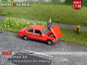 Car breakdown (British N 1:148) in Smoothest Fine Detail Plastic
