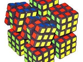 Cube Twister in White Natural Versatile Plastic