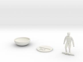 Football player kit in White Natural Versatile Plastic