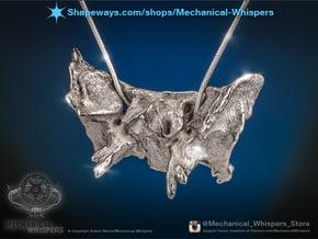 Human Sphenoid Bone Pendant in Polished Nickel Steel