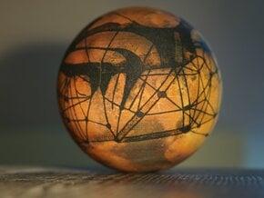 Lowellian Mars - 1895 in Full Color Sandstone