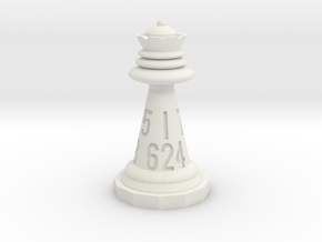 Chess shaped Dice (hollow) in White Natural Versatile Plastic: d12