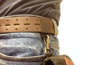 Sliding belt loop with accessory loop (2-pack) in Black Natural Versatile Plastic