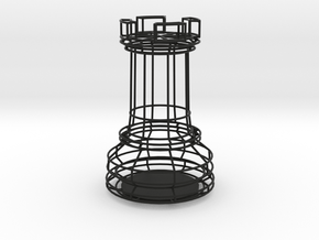 Chess Figure Rook in Black Natural Versatile Plastic