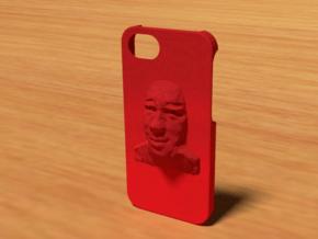 Face Iphone 5 Case in Red Processed Versatile Plastic