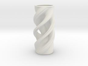Vase 032318b in White Natural Versatile Plastic