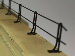 HO RDG Bridge Handrail Stanchions (12-pack) in Smoothest Fine Detail Plastic