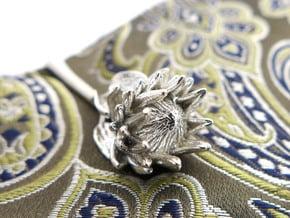 Protea Tie Bar in Natural Silver