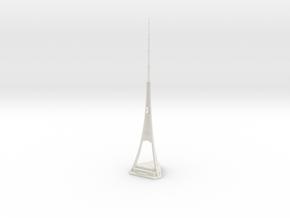 Riga Radio & TV Tower (1:2000) in White Natural Versatile Plastic