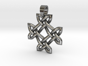 Crossing celtic knot [pendant] in Polished Silver