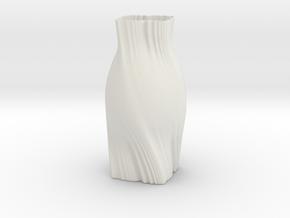 Vase WS1844 in White Natural Versatile Plastic