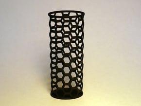Honey Comb Lighter Case in Black Natural Versatile Plastic