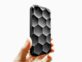 iPhone SE/5S Case_Hexagon in Black Natural Versatile Plastic