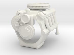BRONCO V8 simple engine block in White Natural Versatile Plastic