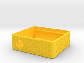 MM Mech Squonk Box (2x18650) Dinky Cuboid Design in Yellow Processed Versatile Plastic