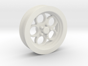 1/18 Muscle Machines Circle Rim Front Skinny Tire in White Natural Versatile Plastic