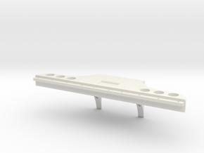 Rear Bumper for Verkerk Lights in White Natural Versatile Plastic