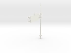 Highway Cantilever Sign 1-87 HO Scale With CCTV in White Natural Versatile Plastic