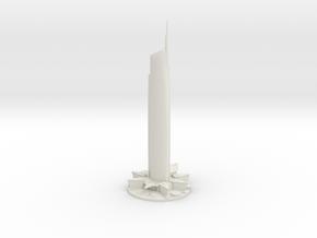 Almas Tower (1:2000) in White Natural Versatile Plastic