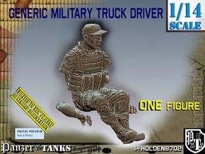 1/14 Generic Truck Driver 005 in White Natural Versatile Plastic