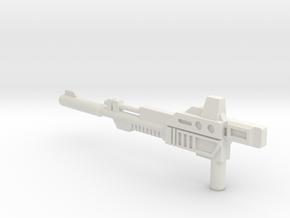 Slaughter Rifle in White Natural Versatile Plastic