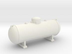Propane tank 500 gallon. O Scale (1:48) in White Natural Versatile Plastic