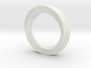 Simple Mobius (180 deg) in White Natural Versatile Plastic