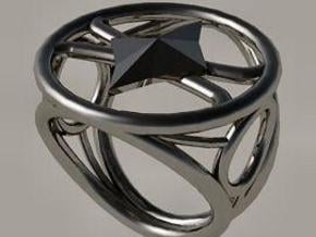 Size 19 5 mm LFC Diamonds in Polished Silver