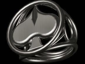 Size 25 5 mm LFC Spades in Polished Bronzed Silver Steel