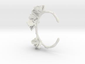 Cherry Cuff- Nylon in White Natural Versatile Plastic