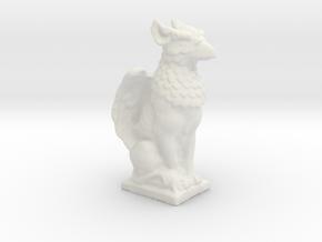 Griffin Statue in White Natural Versatile Plastic: Small