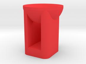 1/10 Scale Flashlight body in Red Processed Versatile Plastic