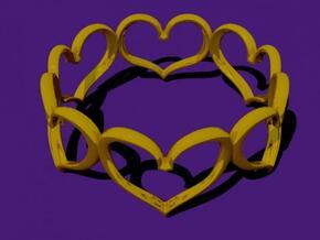 Hearts Bracelet 3inch in White Natural Versatile Plastic