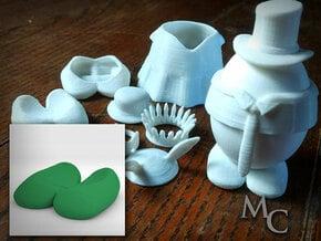 Eggcessories! Egg Feet in White Natural Versatile Plastic