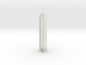 The Centre (1:2000) in White Natural Versatile Plastic