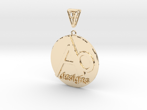 AB Designs Pendant in 14k Gold Plated Brass