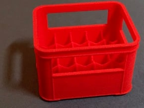 Crate for beer bottles  in Red Processed Versatile Plastic