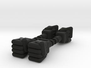 Baron Karza Fists in Black Natural Versatile Plastic