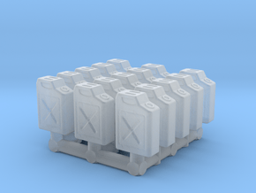 1/87 Scale Fuel Jerry Cans in Smooth Fine Detail Plastic