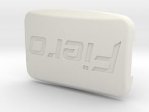 Pontiac Fiero Taillight Screw Cover - Fiero Logo in White Natural Versatile Plastic