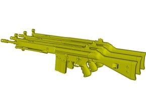 1/10 scale Heckler & Koch G-3A3 rifles A x 3 in Smooth Fine Detail Plastic