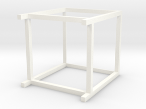 Lounge Table square, high, 1:12 in White Processed Versatile Plastic