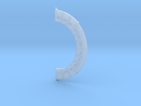 Turn Dial II (Medium Size) in Smooth Fine Detail Plastic
