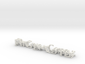 3dWordFlip: Pit Crew Coffee/Service.504.258.3871 in White Natural Versatile Plastic