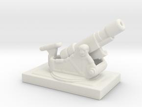 SKODA 305mm  M1916 172 ww1 artillery 1/285  in White Natural Versatile Plastic